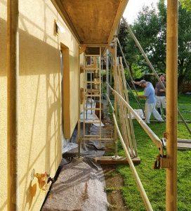 Renovering av husfasad